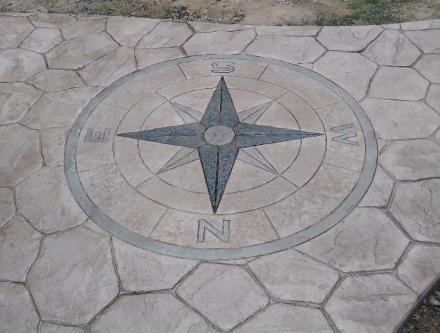 Compass on Random Stone