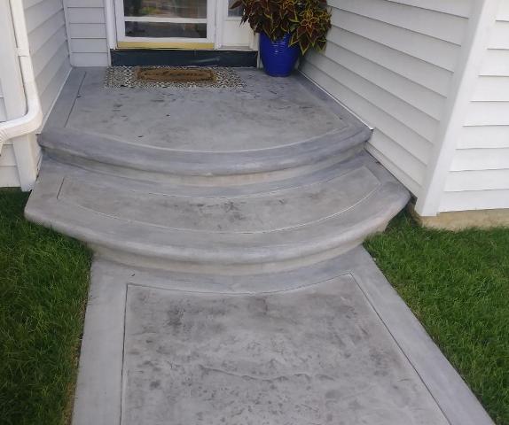 Textured bordered walkway closeup