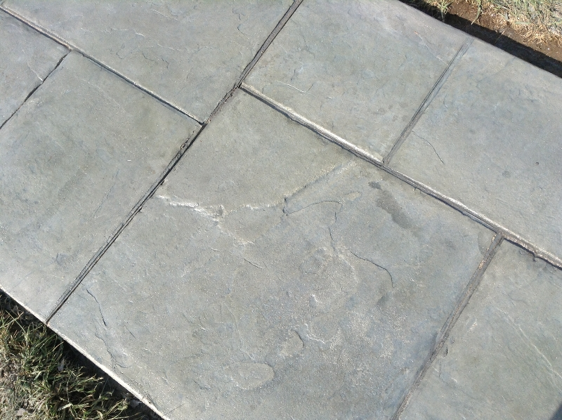 custom stamped concrete color
