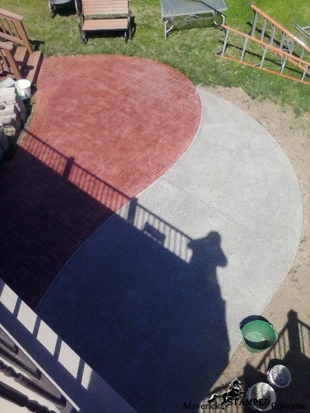 custom stamp and color patio