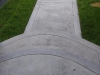 Textured bordered walkway top view