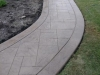 Walkway Royal Ashlar in Canvas with slate skin border with walnut release