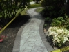Walkway with border in grays