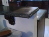 concrete colored polished bar top chiseled edge reveal