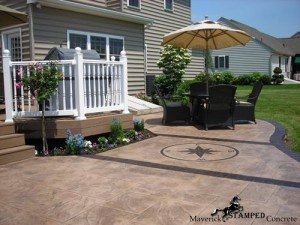 stamped concrete pool deck & pool patio contractor collegeville pa